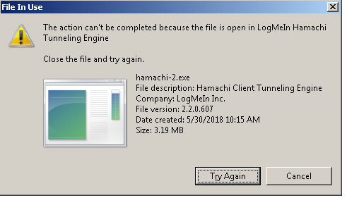 Logmein will not uninstall