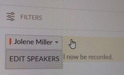edit speaker option