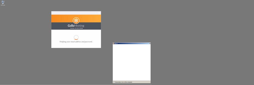 Desktop screenshot of error I get