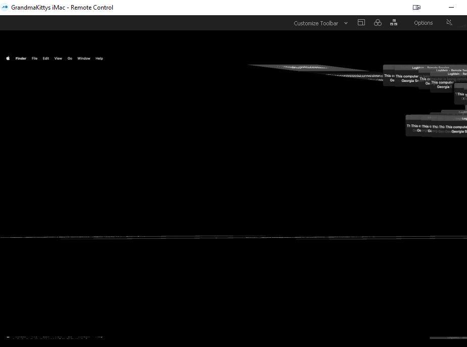 OSX LogMeIn Remote Blacked Blur