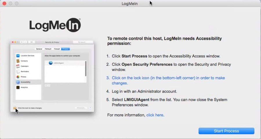 Logmein secure login
