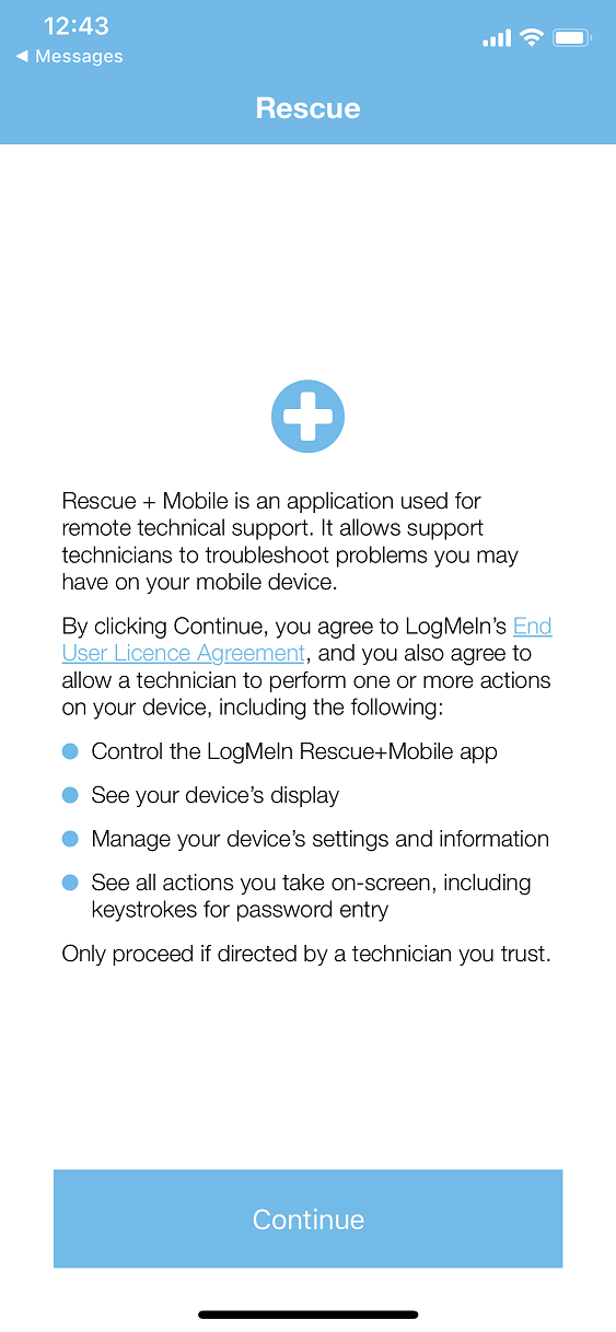 Rescue iOS app was (and is) compliant with Apple's    - LogMeIn