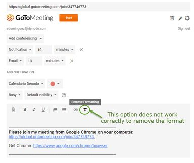 GoToMeeting Google Calendar plugin for Chrome: e